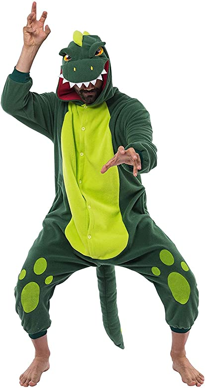 Spooktacular Creations Unisex Mono Disfraz de Dinosaurio para Adulto Pijama