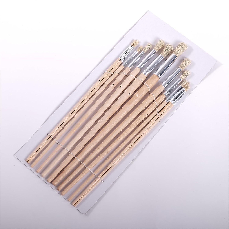 12 PINCEAUX RONDS diff/érentes tailles peinture aluminium brosse /à poils artiste