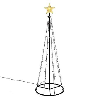 Leuchtende Weihnachtsdeko Außen.106 Led Warm Weiß Lichtpyramide Mit Leucht Stern Lichterbaum 180 Cm Baum Mit Stern Trafo Weihnachtsbaum Weihnachtsdeko Außen Leuchtbaum