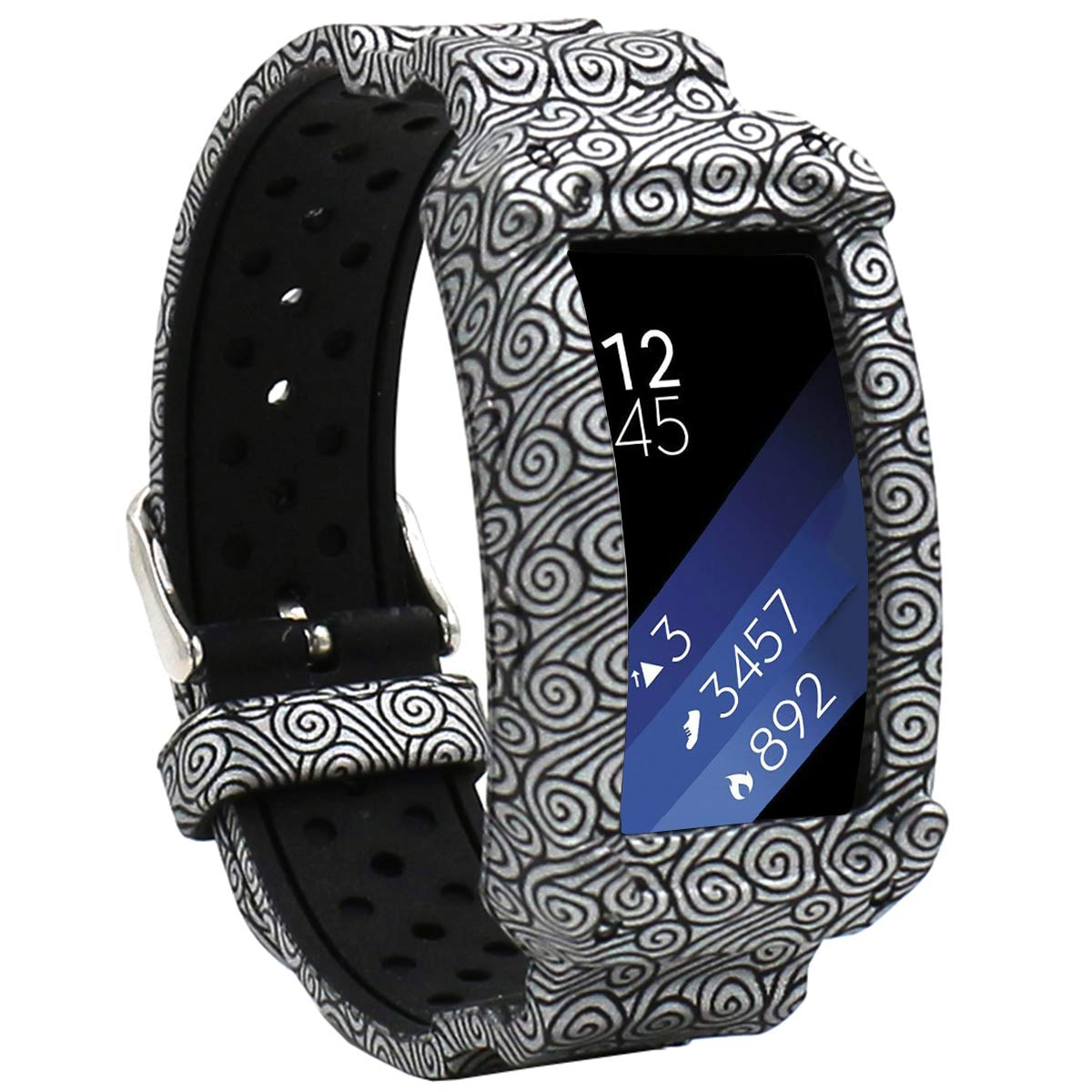 Silicone Replacement Strap Protect Frame Cases with Replacement Band for Samsung Gear Fit 2 /& 2 Pro Veczom Compatible Gear Fit2 Bands Cloud