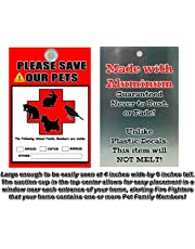 Aluminum Metal Pet Alert Fire Rescue - PLEASE SAVE OUR PETS! - Pet Silhouette Design - Made in and Ships from Cornwall, Ontario, Canada.