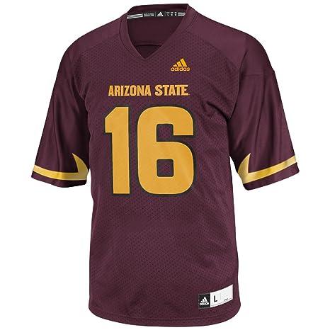 f9c70a44a Arizona State Sun Devils Adidas NCAA Men's Football #16 Replica Maroon  Jersey