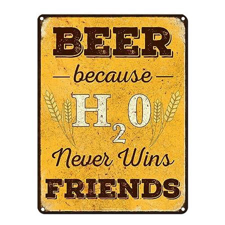 Shunry Beer Friends Placa Cartel Vintage Estaño Signo Metal ...