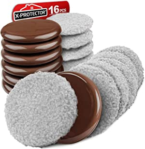 """Furniture Sliders X-PROTECTOR - Multi-Surface Sliders for Carpet - Furniture Movers Hardwood Floors - Best 8-Pack 3 1/2"""" Moving Pads and 8 Hardwood Socks - Move Your Furniture Easy ON Any Surface!"""