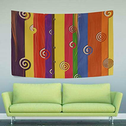 WIHVE Rainbow Board New Stylish Pattern Wall Hanging Tapestry For Bedroom  Living Room Dorm Accessories Wall
