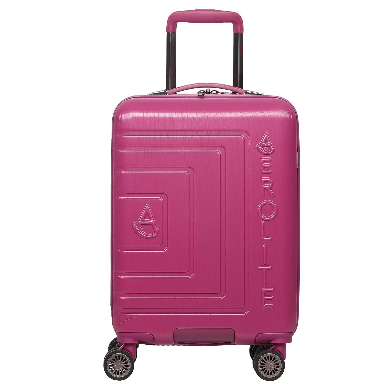 Aerolite ABS Bagage Cabine Bagage à Main Valise Rigide Légere à 8 roulettes, Approuvé Ryanair, easyJet, Air France, KLM, Lufthansa, Vueling Plus, Bleu Approuvé Ryanair