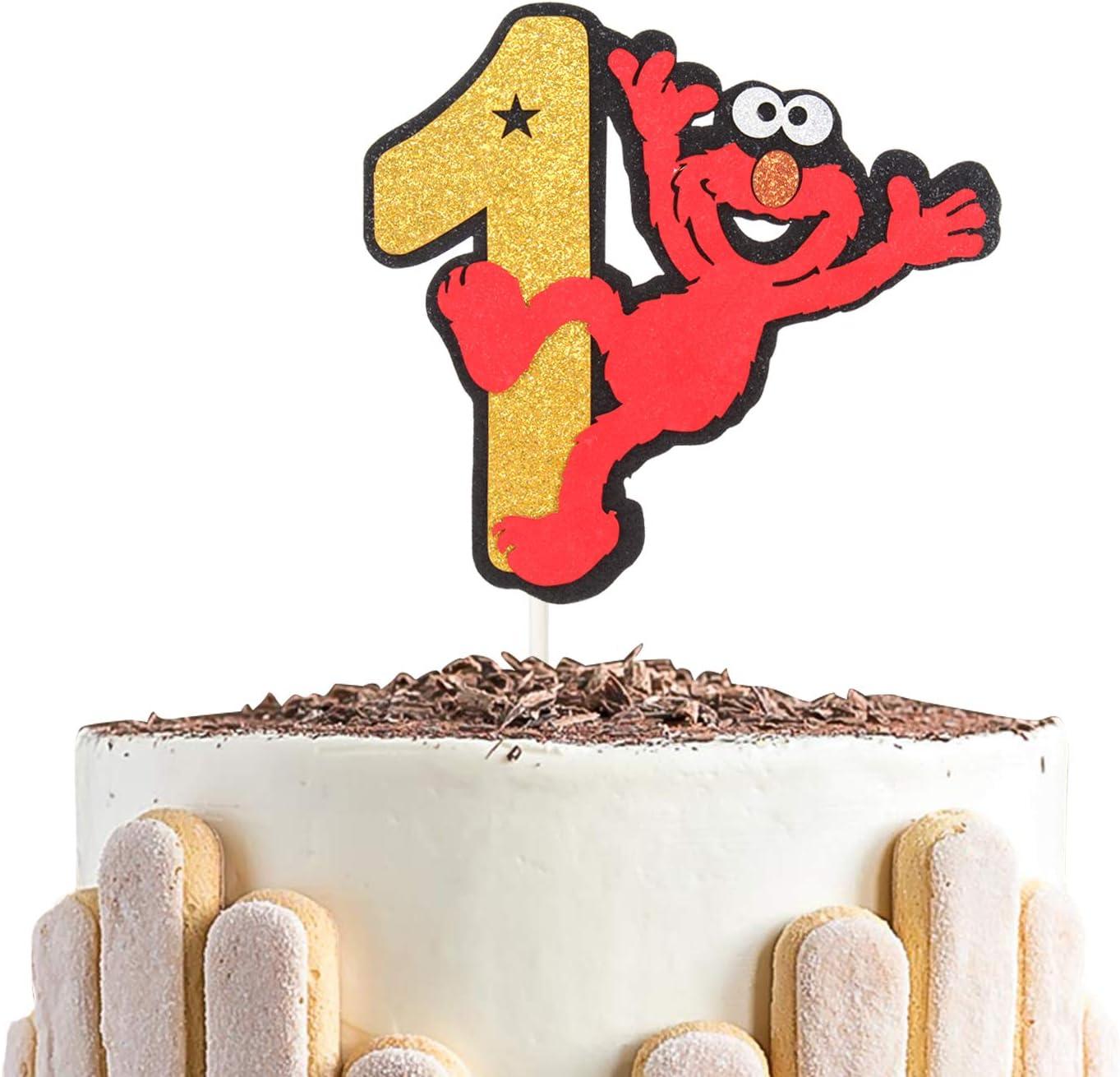 Marvelous Amazon Com Babys 1St Birthday Cake Topper Elmo For Kids Funny Birthday Cards Online Bapapcheapnameinfo