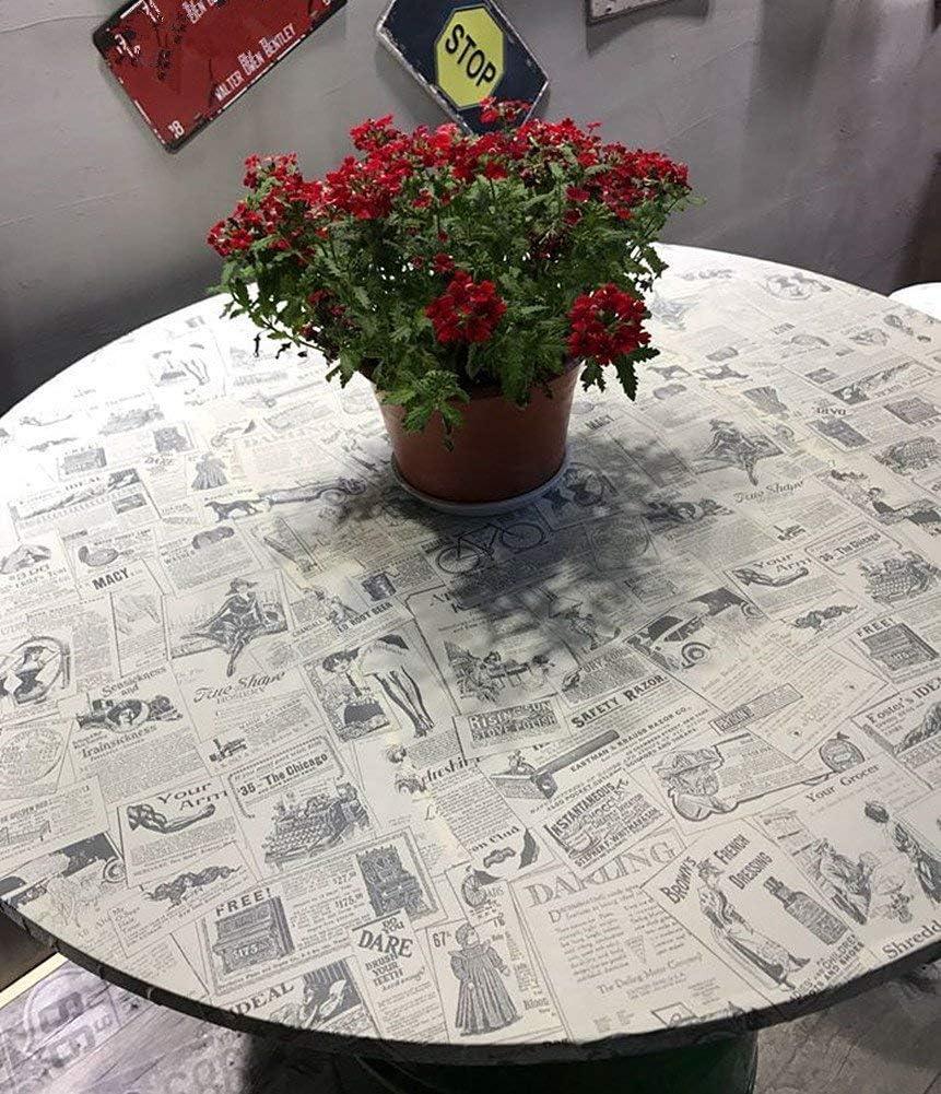 WDragon Papel pintado adhesivo vintage para decoraci/ón de peri/ódicos 45 cm x 250 cm