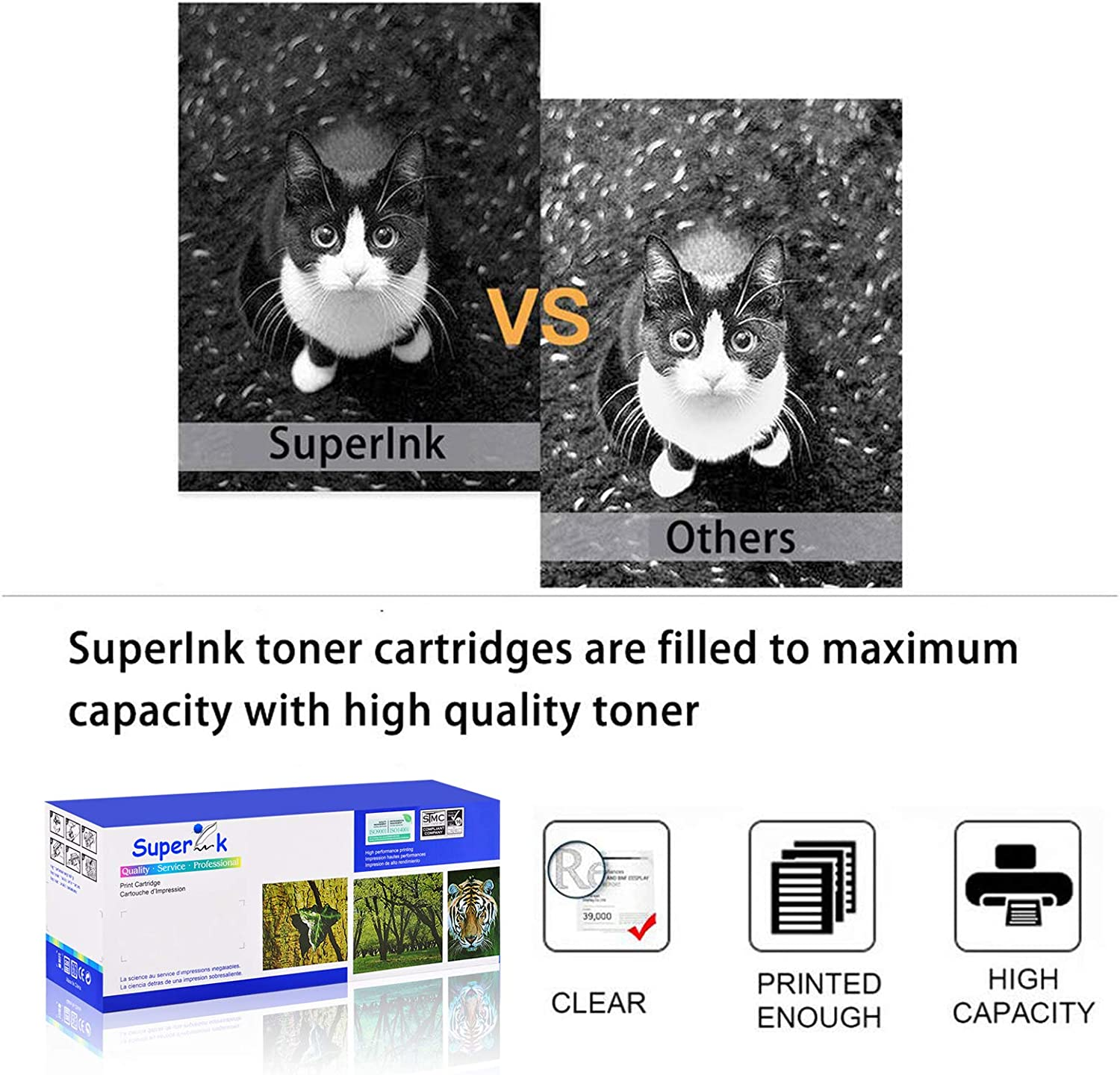 Black, 3-Pack SuperInk Compatible Toner Cartridge Replacement for Canon 137 CRG137 9435B001AA to use with ImageClass MF236n MF249dw D570 LBP151dw MF227dw MF232W Printer