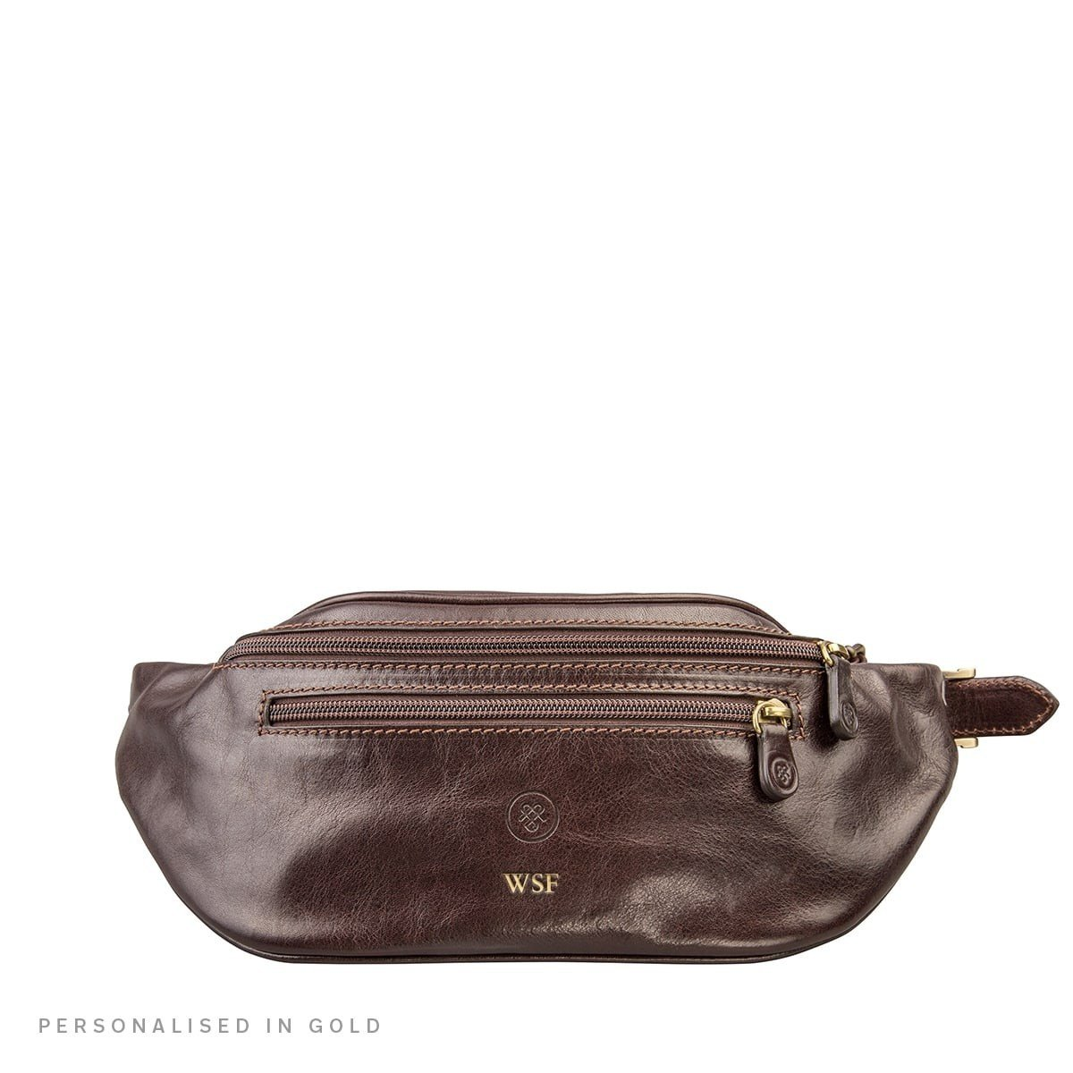 Maxwell Scott Personalized Quality Leather Bum Bag (Centolla)
