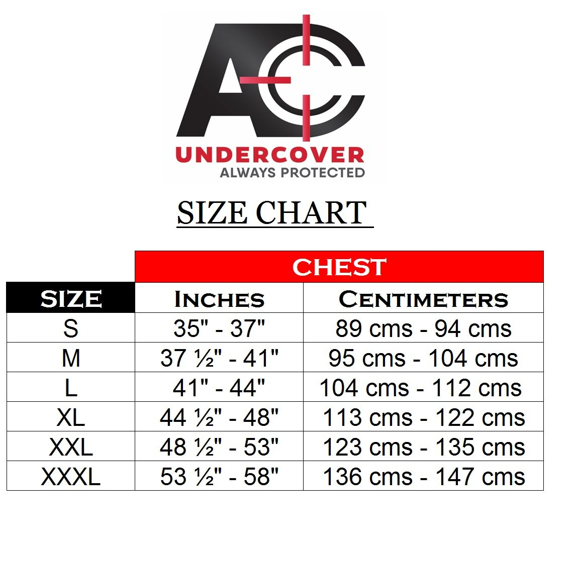 AC Undercover Concealed Carry Crew Neck Tshirt/CCW Tactical Clothing/Concealed Clothing REF. 511 (Black) (Black, XXX-Large) by AC Undercover (Image #4)