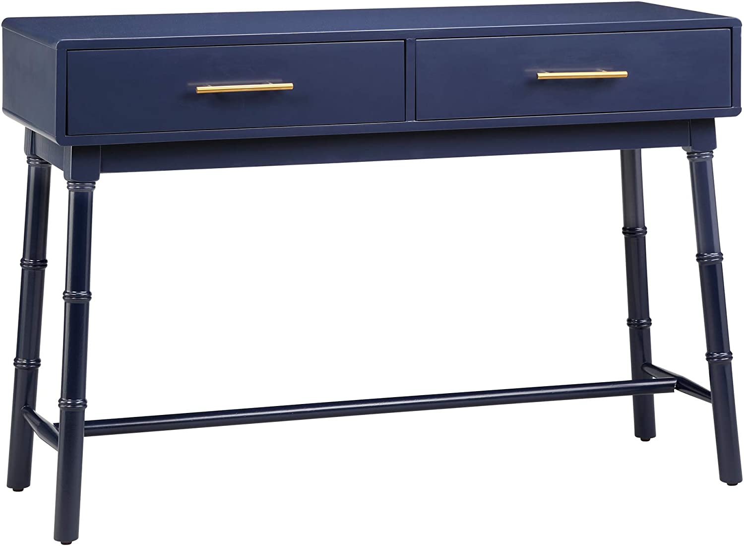 """Amazon Brand – Ravenna Home Classic Console Table with Storage Drawers, 44""""W, Blue"""