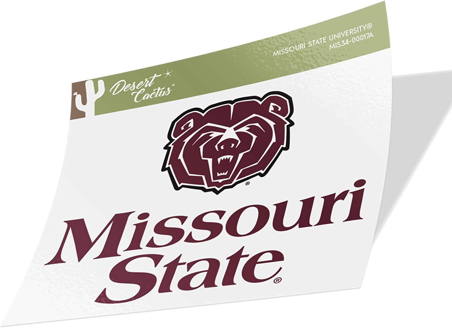 Missouri State University MSU Bears NCAA Vinyl Decal Laptop Water Bottle Car Scrapbook (Sticker - 00017A)