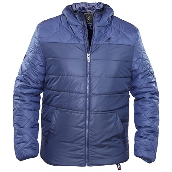 4969fb938 Kangol Mens Casual Zip Up Quilted Puffa Jacket Sports Branded ...