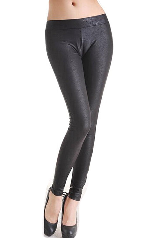 Hot selling European and American low-waist PU leather pants Skinny Leggings Pants