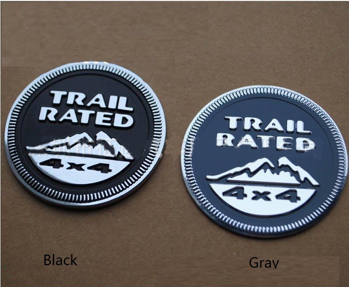 Oem for Jeep Trail Rated 4x4 Nameplate Emblem Wrangler Grand Cherokee Liberty Badge Sticky Back Logo Trailhawk 2014 Yoaoo-oem/® Auto Tuning 2pcs 1set Black