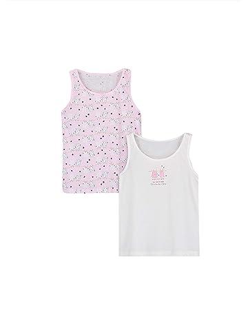 LOREZA /® Pack of 6 2-13 Years Girls Cotton Tank Top Sleeveless Undershirts Vest with Spaghetti Straps