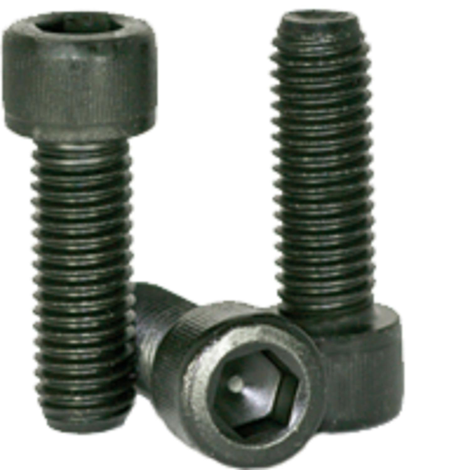 #10-24 x (Choose Length) Socket Head Cap Screw, Fully Threaded, Material: Alloy Steel, Finish: Black Oxide, Size: #10-24, Coarse Thread (UNC) Full Thread, ROHS Compliant