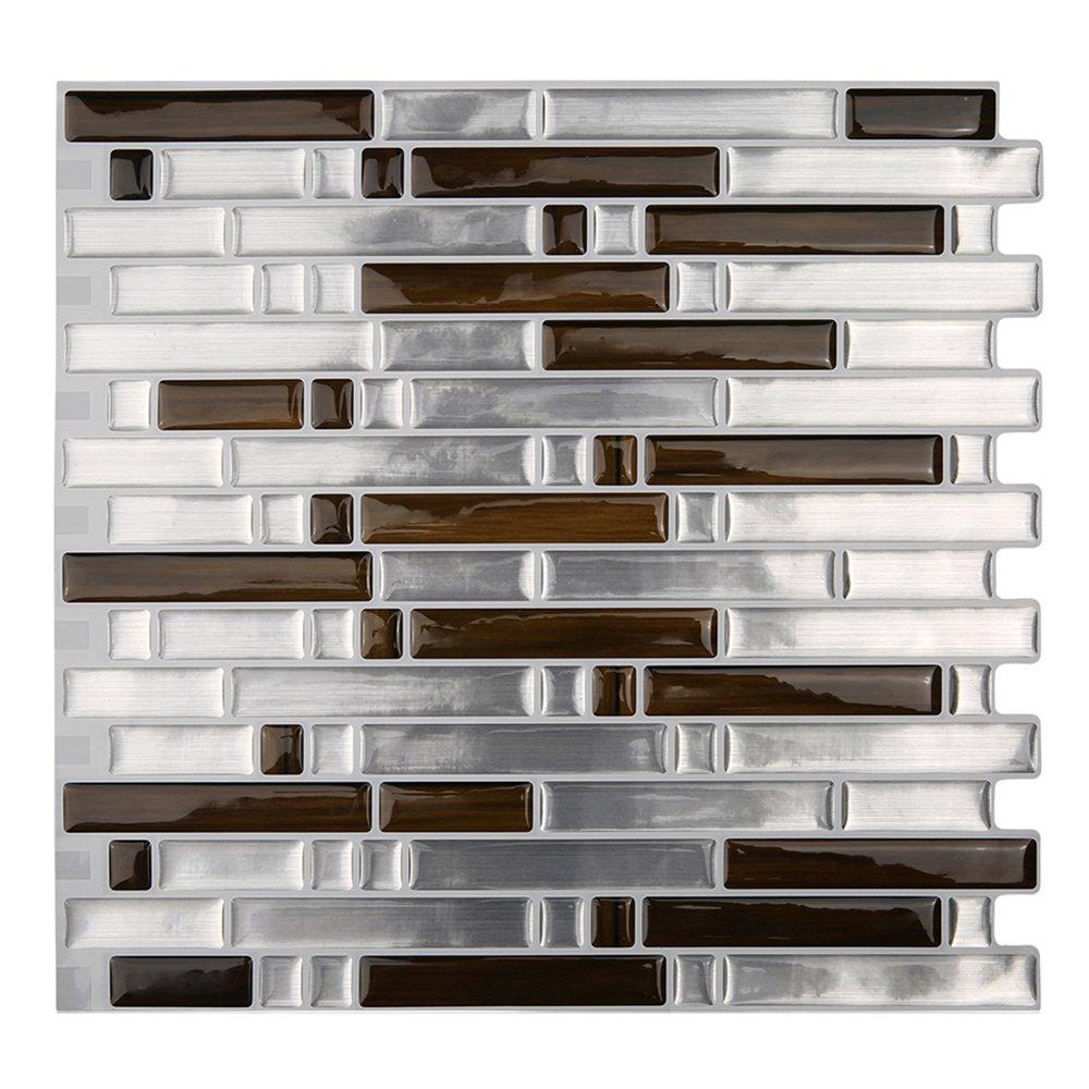 Self Adhesive Wall Tiles Peel And Stick Backsplash Kitchen: Magictiles Peel And Stick Kitchen Backsplash Tile Self