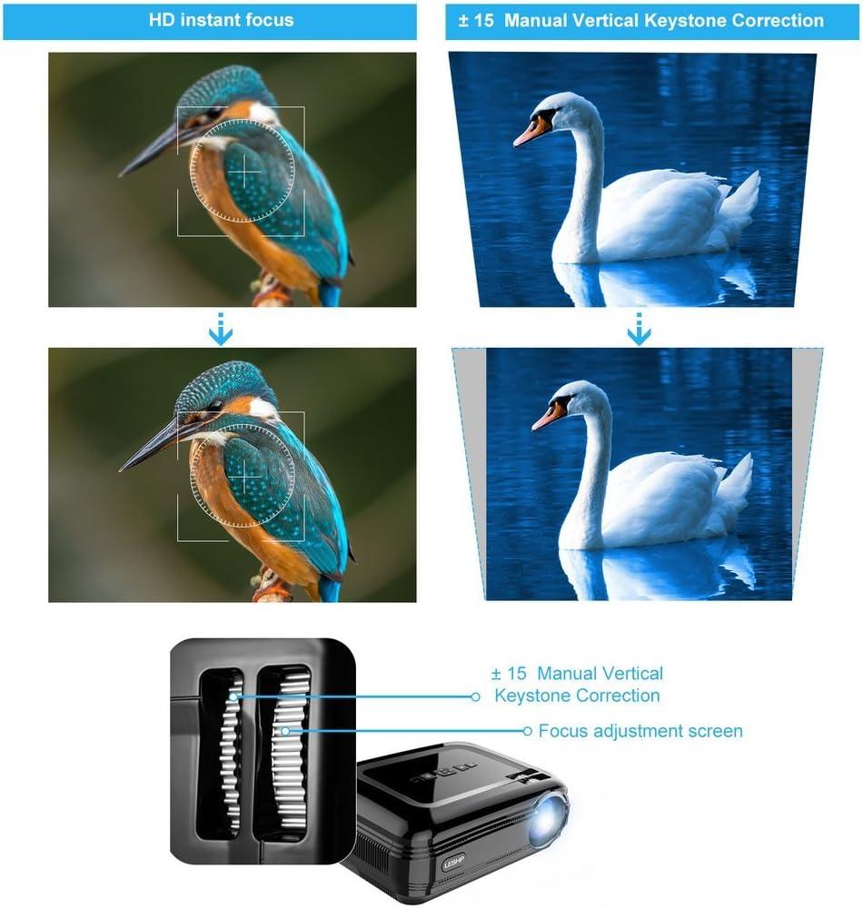 Amazon.com: Proyector de vídeo, leshp Proyector LCD HD 1080P ...