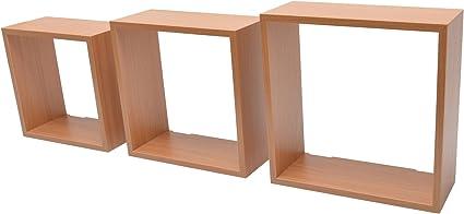Duraline Regal Bücherregal Wandregal mit hohen Kanten 60 x 15 x 4 cm eiche