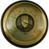 Fischer Instruments 1434B-22-B Mahogany Wood and Brass Marine Barometer