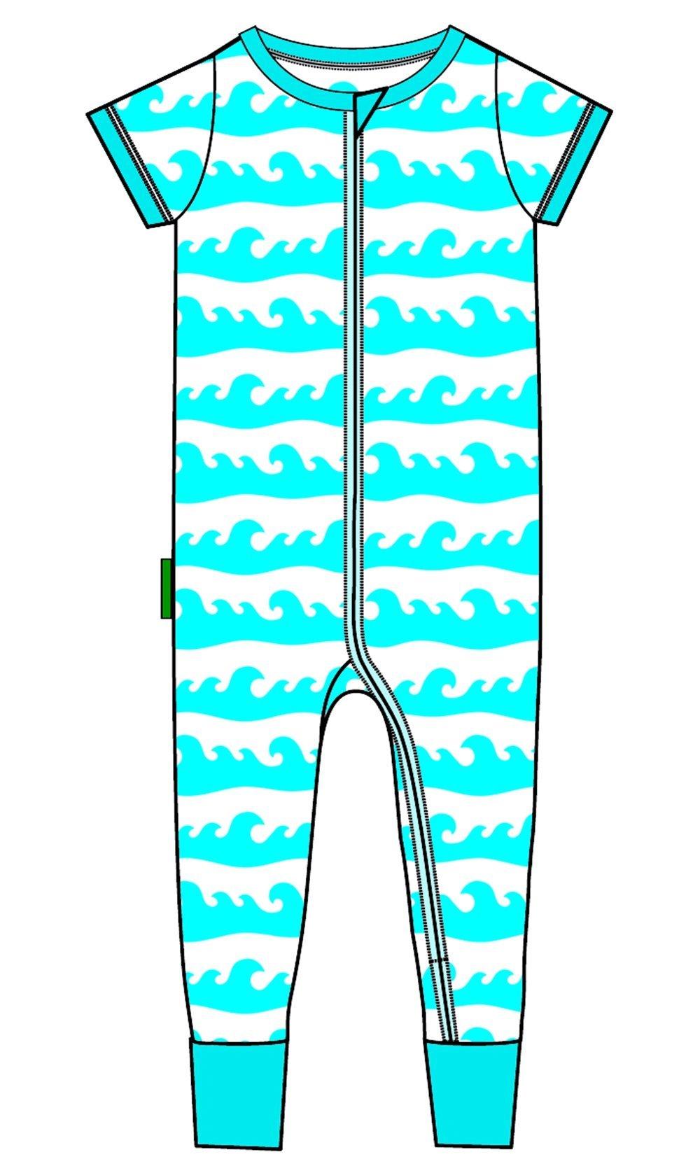 19568c276bd6 Parade Organics Signature  2 Way  Zipper Romper Short Sleeve ...
