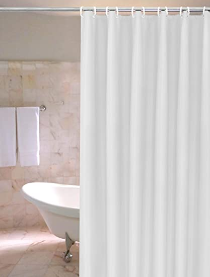 Amazon White PVC Shower Curtain Liner With Metal Grommets And