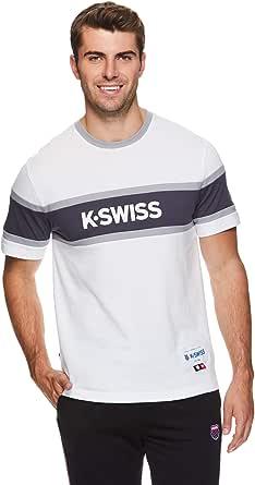 K-Swiss Men's Graphic Workout T Shirt - Short Sleeve Gym & Training Athleisure Tee