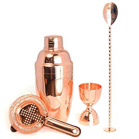 Lovely HAPPYNUTS Barware Set Include 3 Piece 18oz Cocktail Shaker With Built In  Strainer,