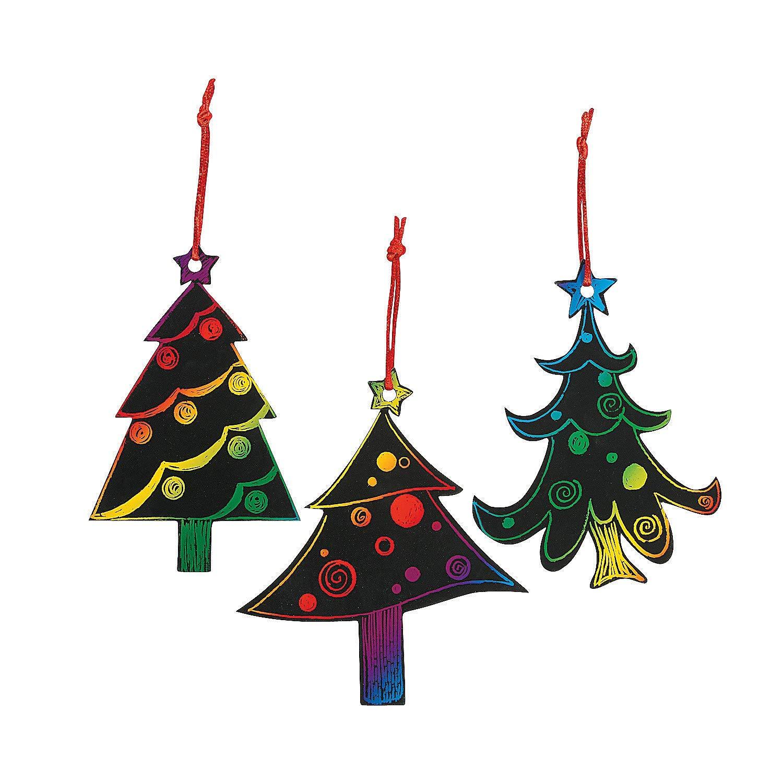 Amazon.com: Magic Color Scratch Christmas Tree Ornaments (24 Count ...