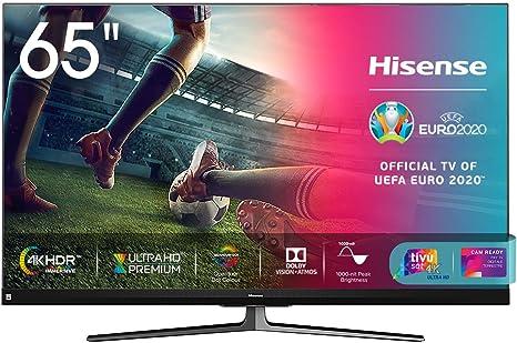 HDR10+ Dolby Atmos Esclusiva  - 2020 Dolby Vision HDR Quantum Dot Hisense 65U71QF Smart TV ULED Ultra HD 4K 65 Full Array Local Dimming Alexa integrata Tuner DVB-T2//S2 HEVC Main10
