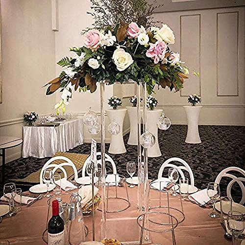 Everbon Wedding Decorations Supplies Table Decorative Flower Vases Metal Stand Clear Backdrops Frame