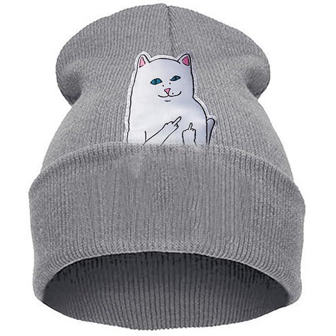 Belsen Unisex Cappello Inverno Berretti in gatto erigere dito medio Hip-Hop  Cap (grigio)  Amazon.it  Abbigliamento c337d740510e