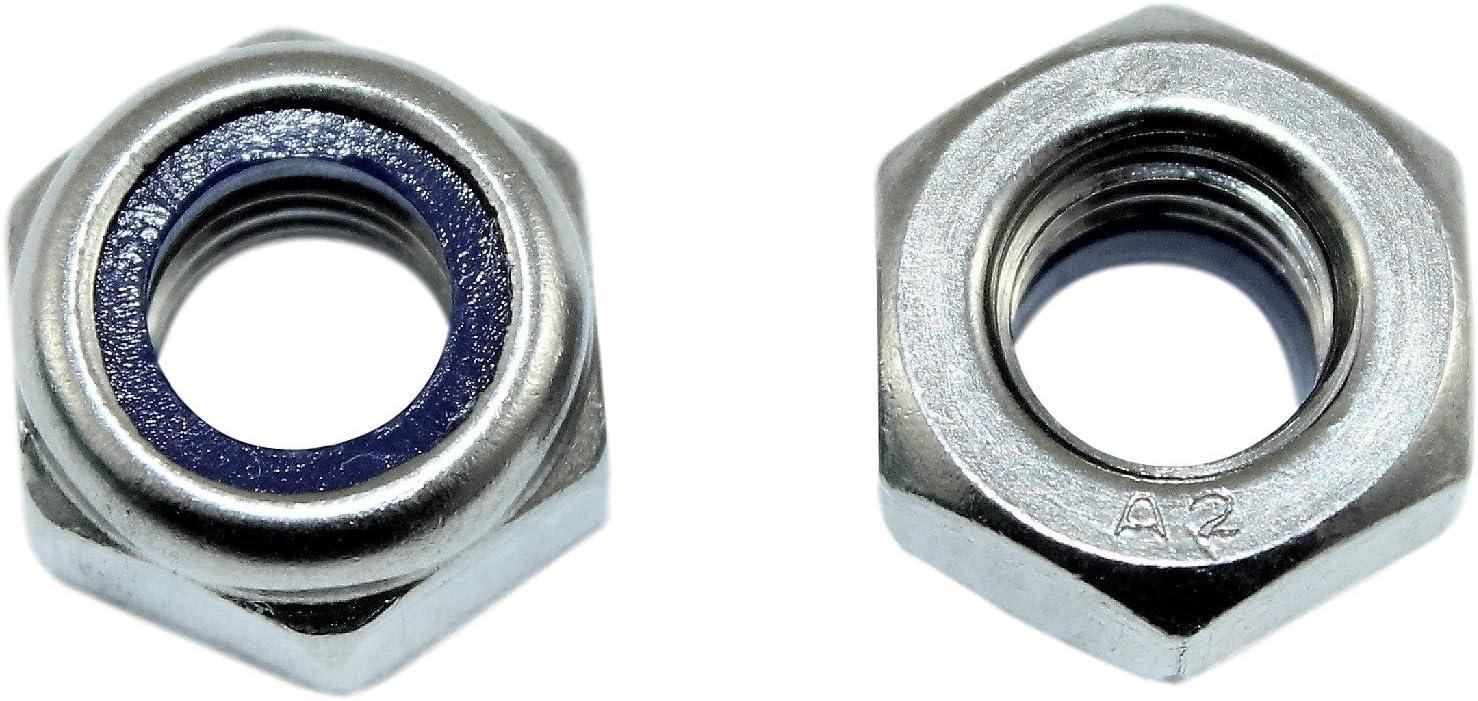 SN-TEC Sicherungs M8 M12 M5 Muttern selbstsichernd DIN 985 Edelstahl Rostfrei A2 metrisch M3 M6 100, M3 M16 Mengenauswahl von 5 bis 500 St/ück m/öglich M4 M10