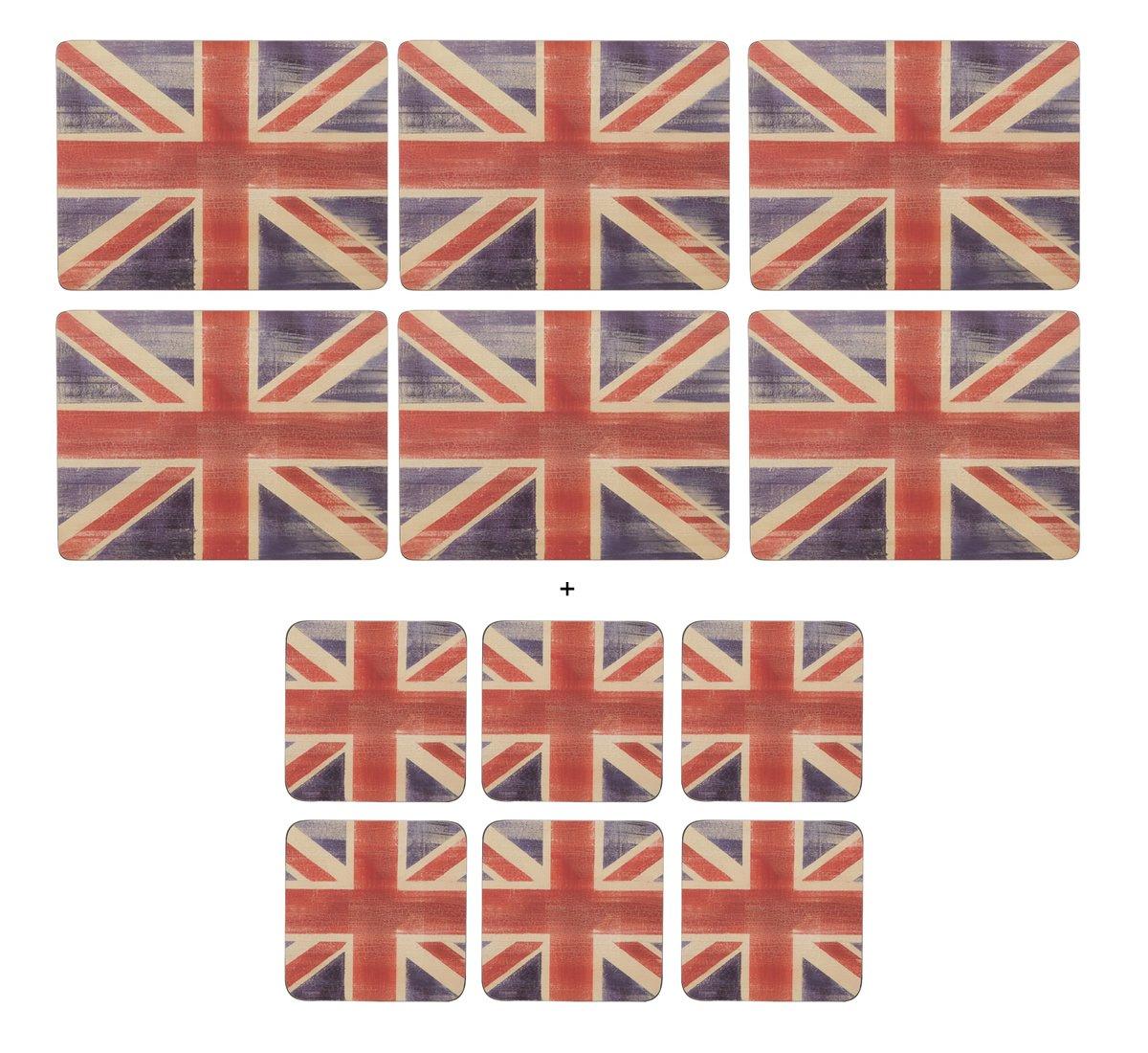 Pimpernel - Union Jack, 6 Placemats + 6 Coasters