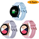 Koreda Compatible Samsung Galaxy Watch Active Bands/Galaxy Watch 42mm/Gear Sport Bands Sets, 20mm Soft Floral Print Sport Watch Strap Replacement Compatible Galaxy Watch Active 40mm R500 3 pack#2