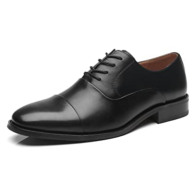 La Milano Mens Leather Updated Classic Cap Toe Oxfords Lace Dress Shoes | Shoes