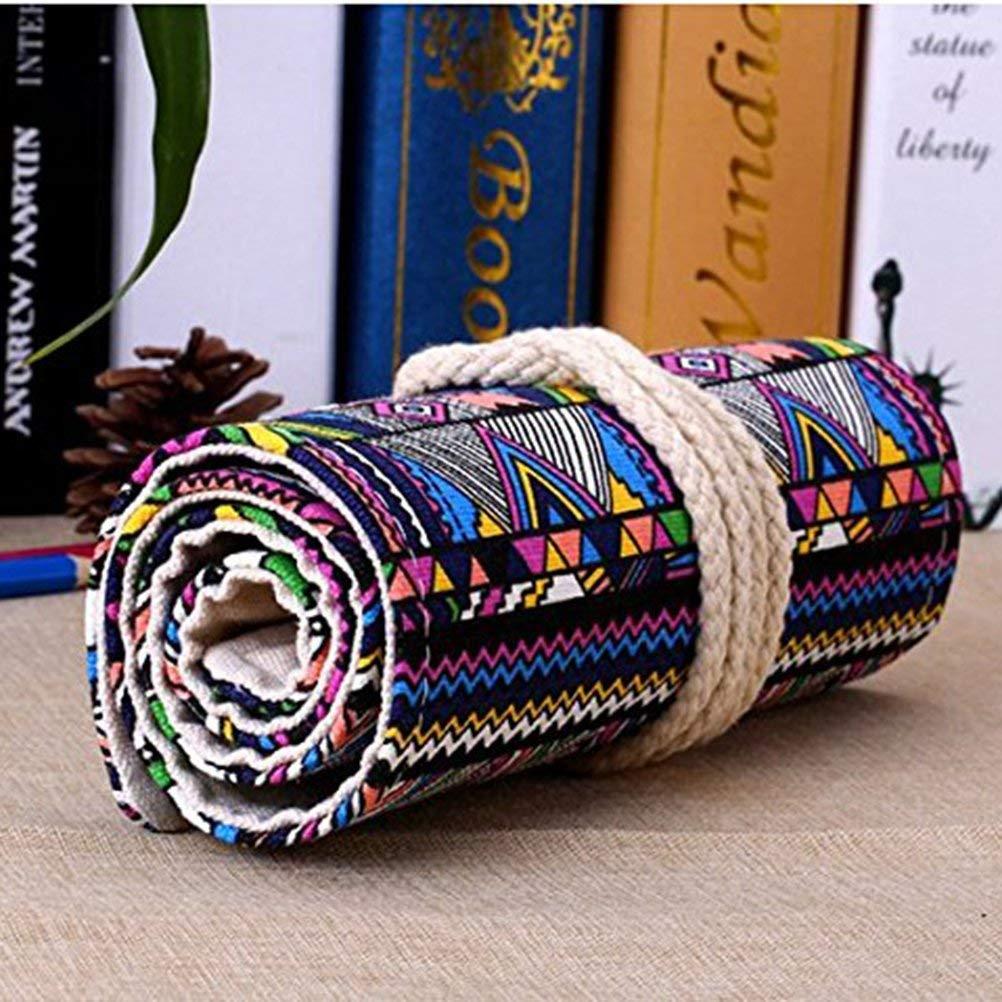 Tinksky Tela colorata matita matita caso 72 Roll Wrap per Set di matite colorate 72 slot matita Wrap