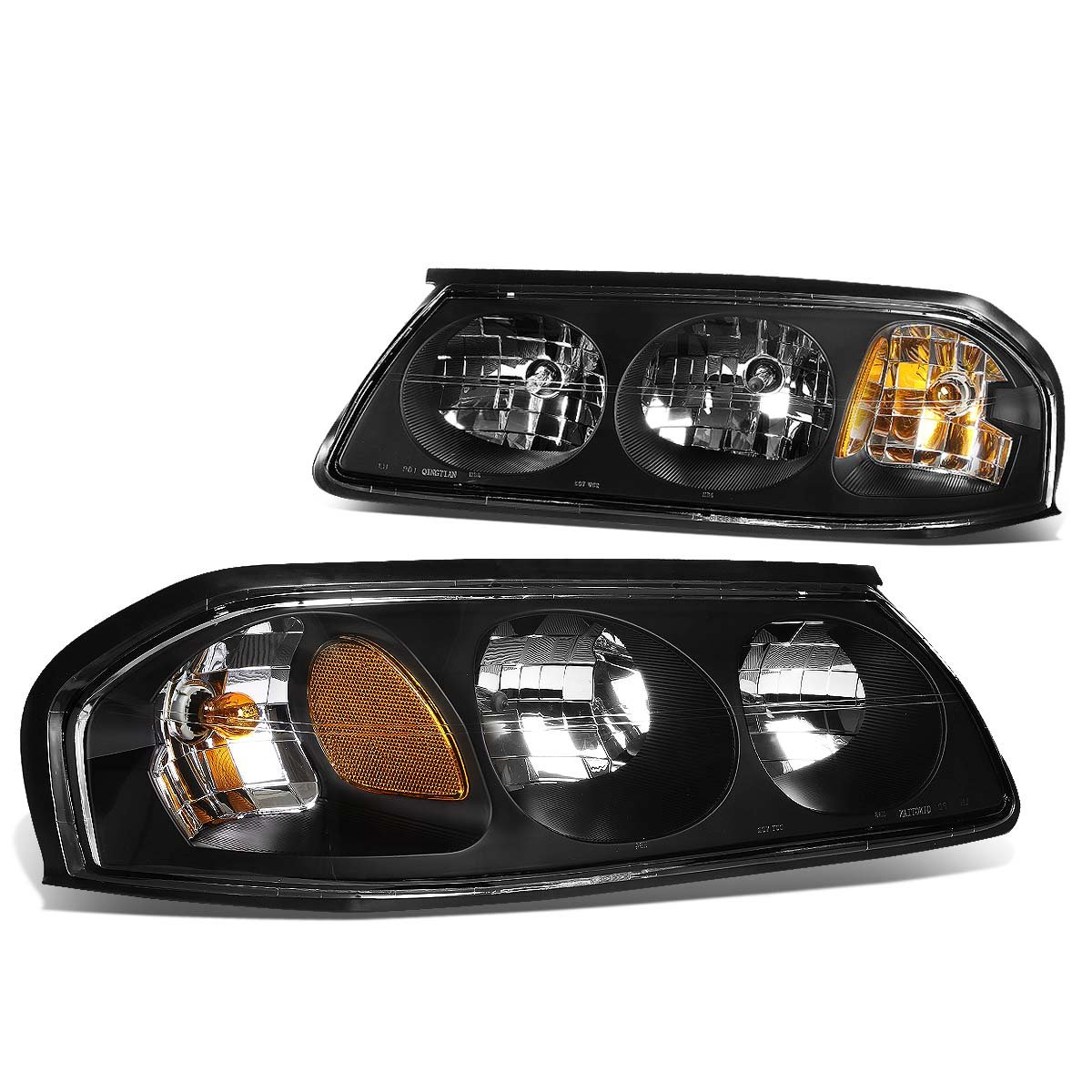 DNA Motoring HL-OH-CI00-BK-AM Headlight Assembly, Driver and Passenger Side