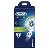 Oral-B PRO 600 CrossAction - Cepillo de dientes eléctrico recargable con tecnología Braun