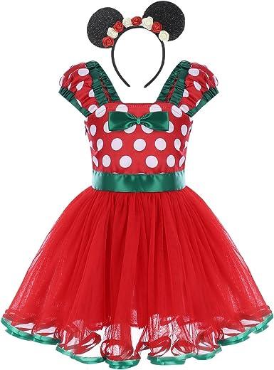 Girls Baby Minnie Princess Tutu Dress Birthday Pageant Party Kids Dresses