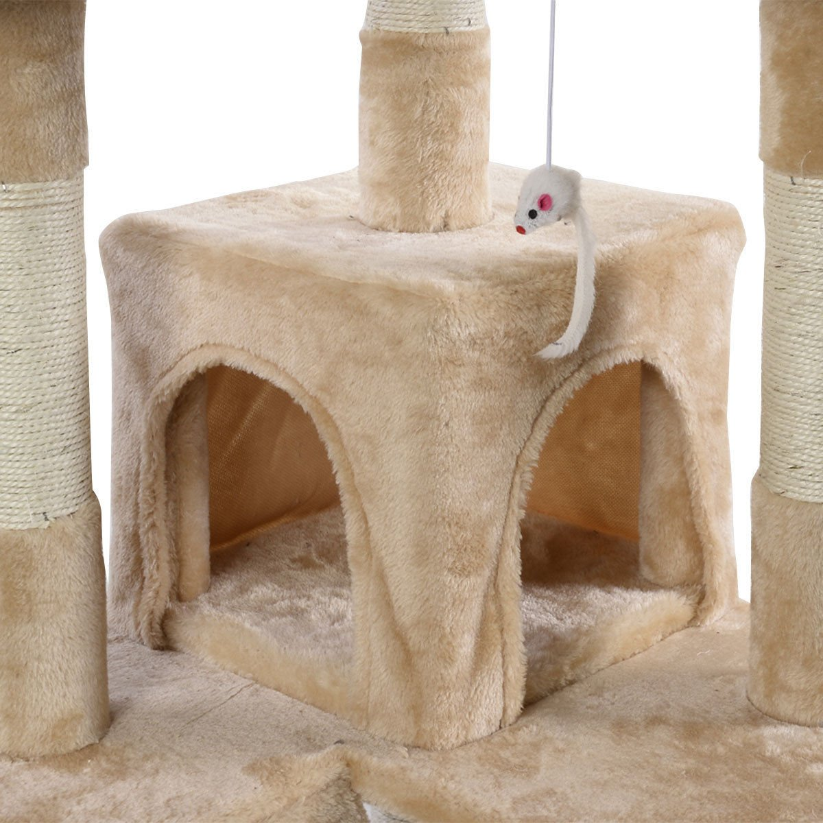 Tangkula Cat Tree Kitty Tower Condo Pet Furniture with Scratching Post Pet Play House Kitty Activity Tree 66
