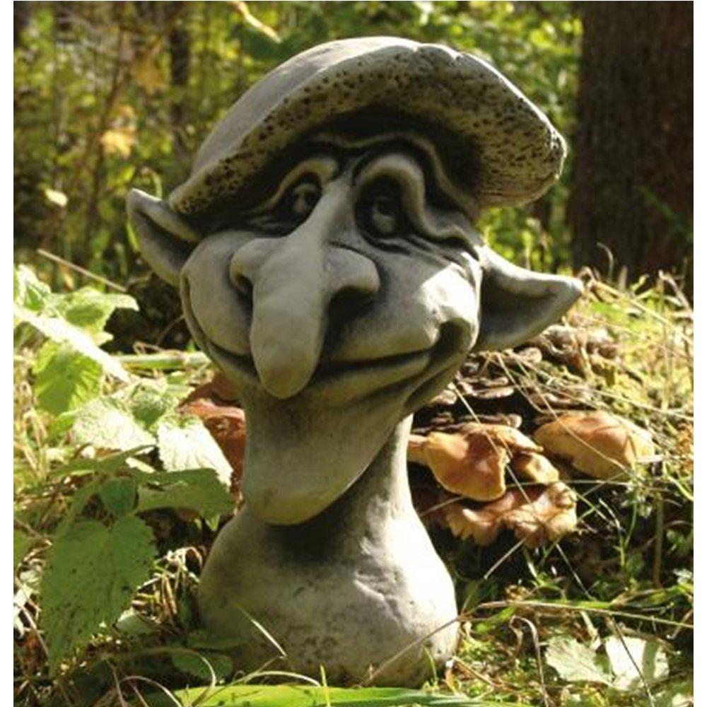 wetterfeste Figur f/ür den Au/ßenbereich Steinguss Gartenskulptur Vidroflor Magic Mushrooms LEONARDO B//H: 18//28cm