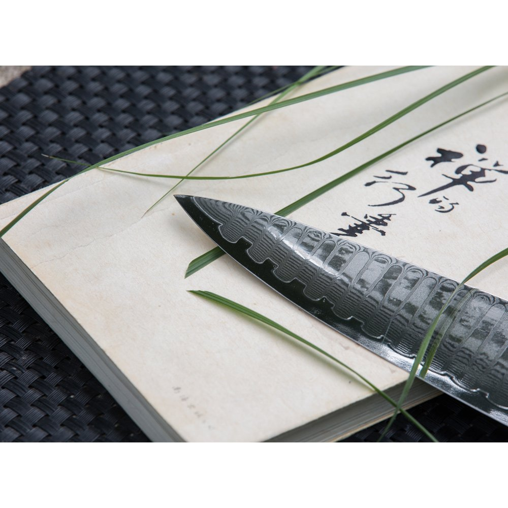 8.5' Japanese Damascus Chef Knife with 67 Layers Damascus Steel Kitchen Knife,Veggie Vegetable Chopper Cutter Knife, Meat Cleaver, Full Tang Blade G10 Handle for Professional Chef WALLOP Dragon Bone by Wallop (Image #4)