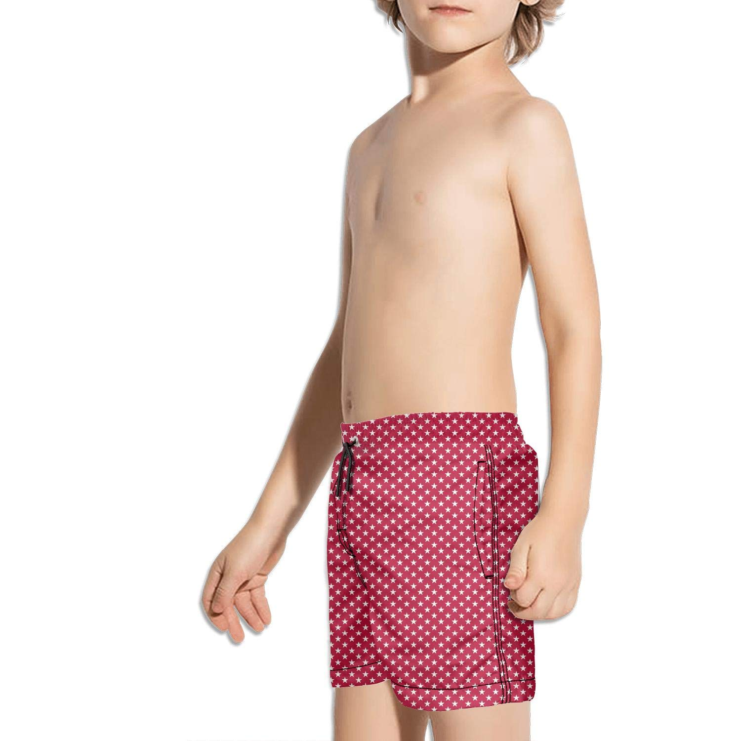 BingGuiC Boys Quick Dry Shorts Happy 4th of July American Flag independent5 Fashion Swim Trunks