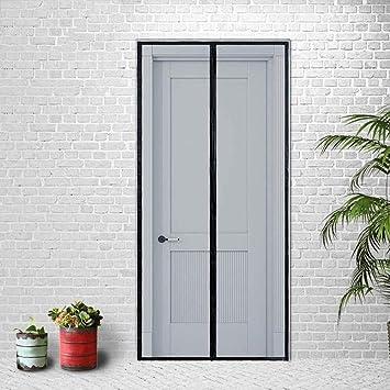 ZLIAN Mosquito de la puerta respirable del verano Fácil de instalar la cortina Imanes automáticamente cerrada Mute cortinas Adecuado for puertas corredizas con Balcón Habitación Sala (Negro): Amazon.es: Bricolaje y herramientas