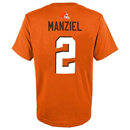 cc160939836 Image Unavailable. Image not available for. Color  Outerstuff Johnny  Manziel NFL Cleveland Browns Player Jersey Orange T-Shirt Youth (S-