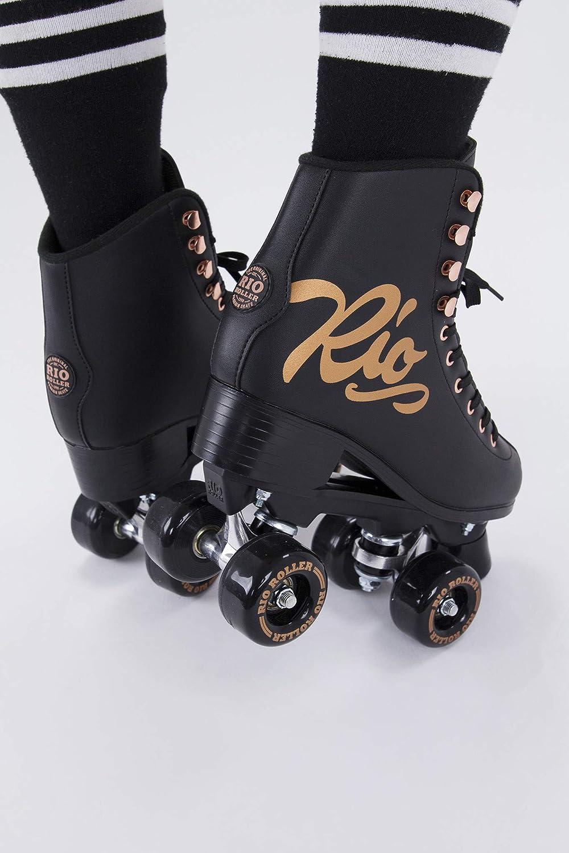 Rio Roller Rose Quad/Roller Skates- Black - 3