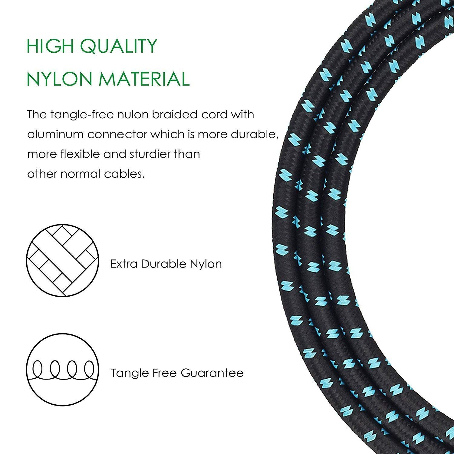 Mugig Professional Cable for Guitar / Bass / Keyboard - 16ft / 5m Instrument Cable 1/4\